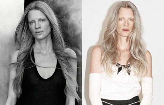 Ünlü Modellerin Makyajsız Halleri - Kristen McMenamy