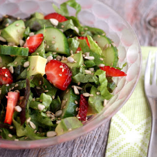 Sweet Strawberry and Cucumber Salad Recipe