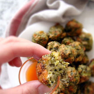 Healthy Baked Broccoli Bites.