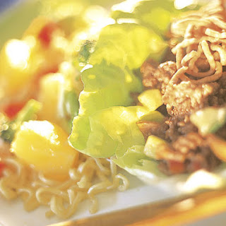 Asian Lettuce Cups With Noodle Salad.
