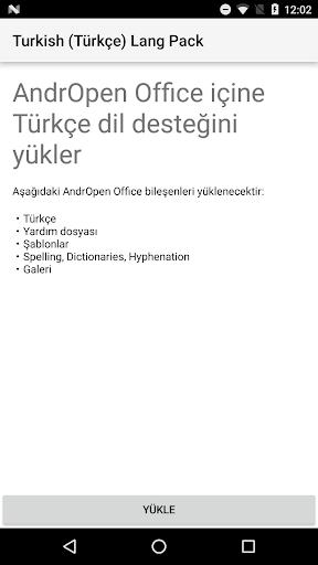 Turkish (Tu00fcrku00e7e) Lang Pack for AndrOpen Office 3.1.0 screenshots 1
