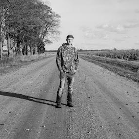 Long Dirt Road by Nathaniel Beighley - Black & White Portraits & People ( nikor, black and white, 35mm, nikkor, d600, lightroom, nikon )