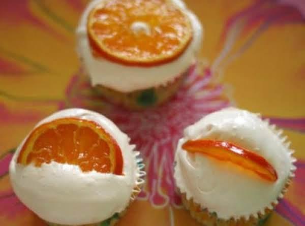Tangerine Cupcakes W/tangerine Frosting