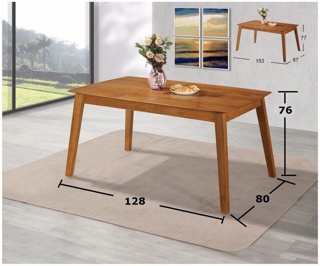 925-05 印全 柚木尺弧形邊餐桌 4.2尺/5尺
