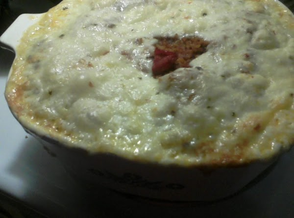 Bake in a preheated 350 degree oven for 30 minutes, or until starting to...