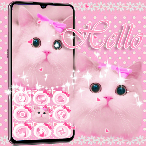 Cute Kitty Theme Pink Bow Kitty Apps On Google Play
