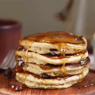Rye Chocolate Orange Silver Dollar Pancakes