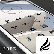 Flight Dark - Flat Icons (Free Version)