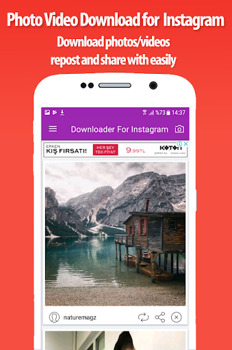 Download photos and videos for Instagram 1.2 screenshots 1