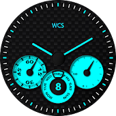 Tri Carbon Blue Watchface