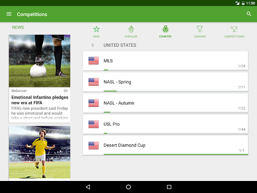 BeSoccer - Soccer Live Score for PC