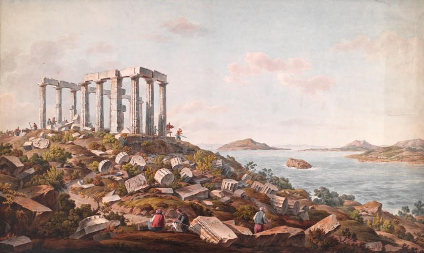 Ο Ναός του Ποσειδώνα στο Σούνιο, μετά το 1805 / The Packard Humanities Institute