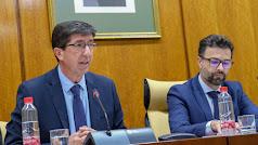 El consejero Juan Marín (Cs) en el Parlamento