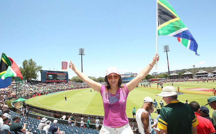 A SA fans having a great time at SuperSport Park in Centurion on the opening day of the first Test between South Africa and Pakistan on Wednesday December 26 2018. The Boxing Day Test, the first to be staged in Centurion, attracted a capacity crowd of more than 10,000 spectators.