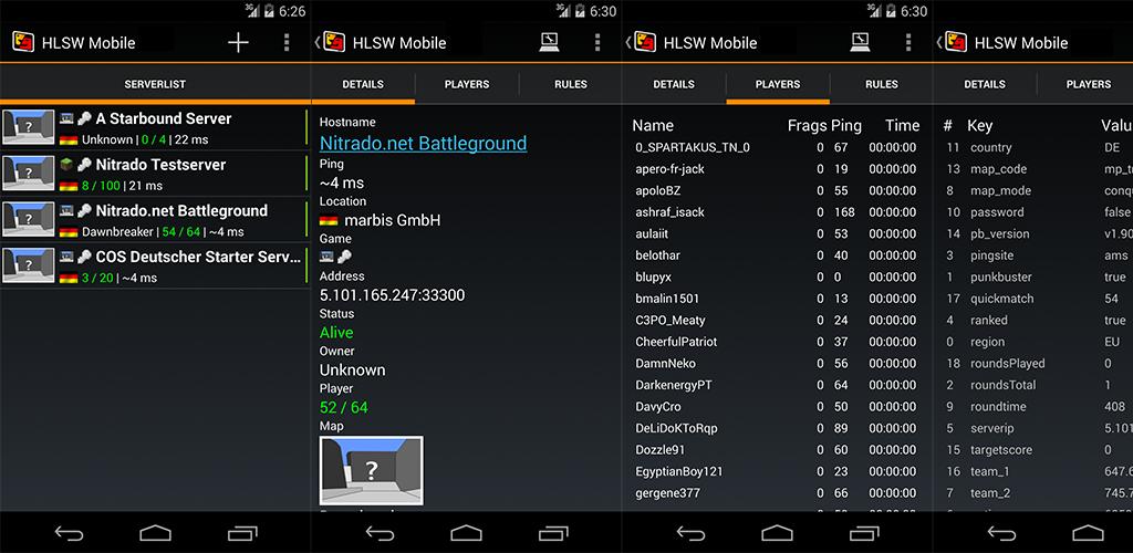 HLSW Mobile - Game Server Rcon 2 6 2 Apk Download - com hlsw