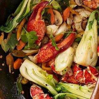 Simple Maine Lobster Stir Fry