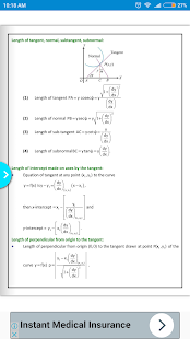 Maths Applications of Derivatives Formula Book - náhled