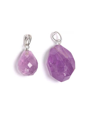Ametist, kristall hänge i två storlekar