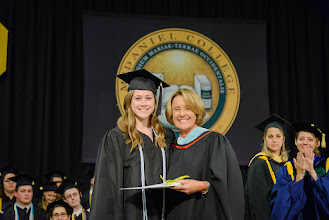 Photo: Emma Duesterhaus, Political Science and International Studies major from Spartanburg, S.C., The Faith Millard/Dr. Carol Fritz Medal
