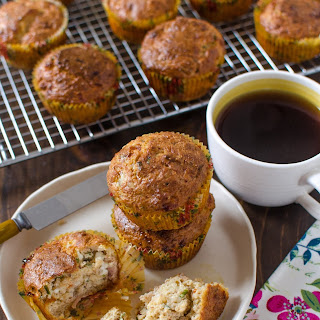 Savory Muffins with Prosciutto & Chives.