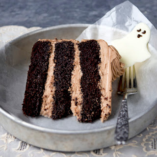 Dancing Ghosts Chocolate Coconut Cake.