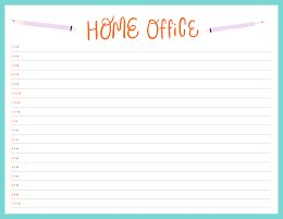 Home Office Day Plan - Daily Planner item