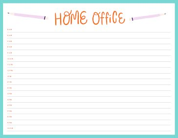 Home Office Day Plan - Daily Planner Template