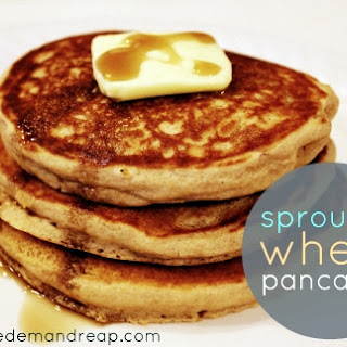 Easy Sprouted Wheat Pancakes.