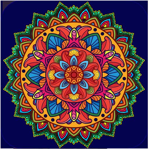 App Insights Mandalas Color By Number Pixel Art Coloring Page - Mandalas-en-color