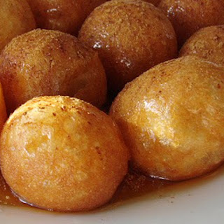 Loukoumades. Greek Doughballs with Honey & Cinnamon
