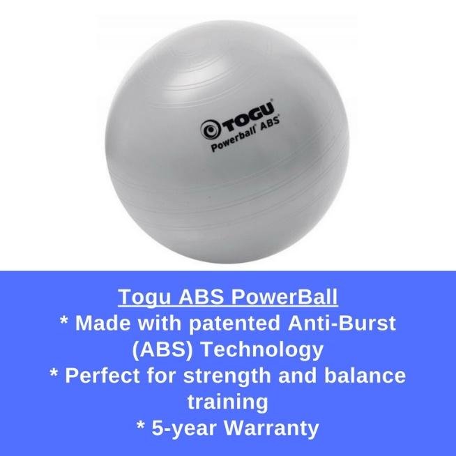 ABS PowerBall from TOGU is a great for all kinds of balance and core exercises.