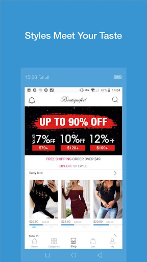 Boutiquefeel- Affordable Women's fancy Apparel - screenshot