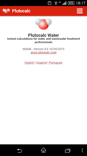 Plutocalc Water Calculations