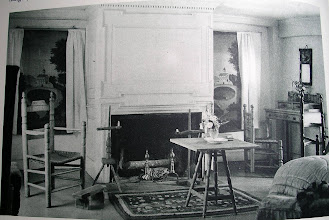 Photo: Bedroom of a house built in 1778, the furnishings are not all from that period. The painted window shades, for example were probably from the 1830's or 40's.