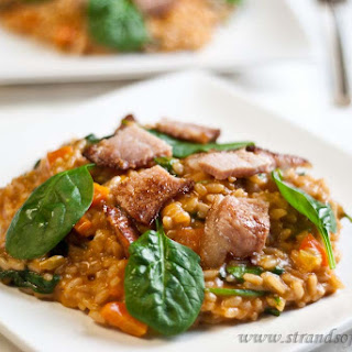 Bacon & Spinach Risotto - low Fodmap