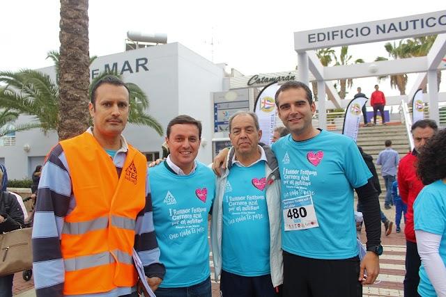 El organizador de la Carrera, los presidentes de Diputación y Club de Mar y el alcalde.