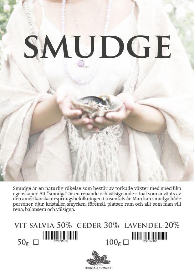 Smudge - naturlig rökelse med salvia, lavendel och ceder