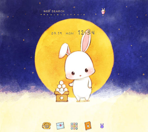 Moon Bunny +HOME Theme 1.0.0 Windows u7528 1