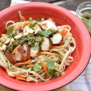 Thai Basil Pesto Noodles.