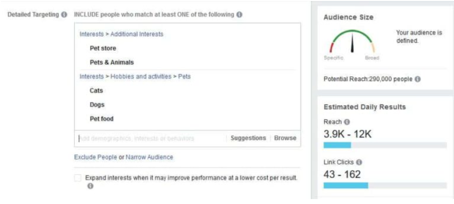 Detailed Targeting is the section where you can see if your keyword has any traction to it
