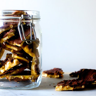 Chocolate Peanut And Pretzel Brittle