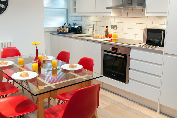 Fully equipped kitchen at Berwick Street, Soho