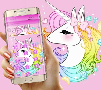 Cute Unicorn Rainbow Theme - náhled