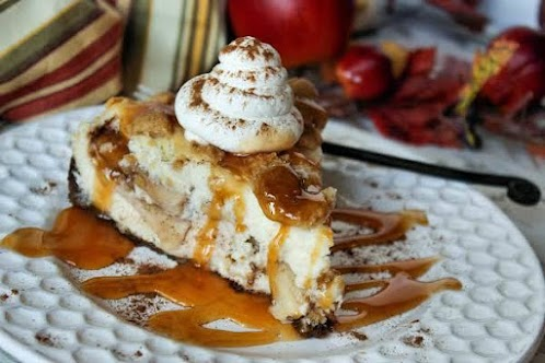 Click Here for Recipe: Apple Pie Stuffed Cheesecake