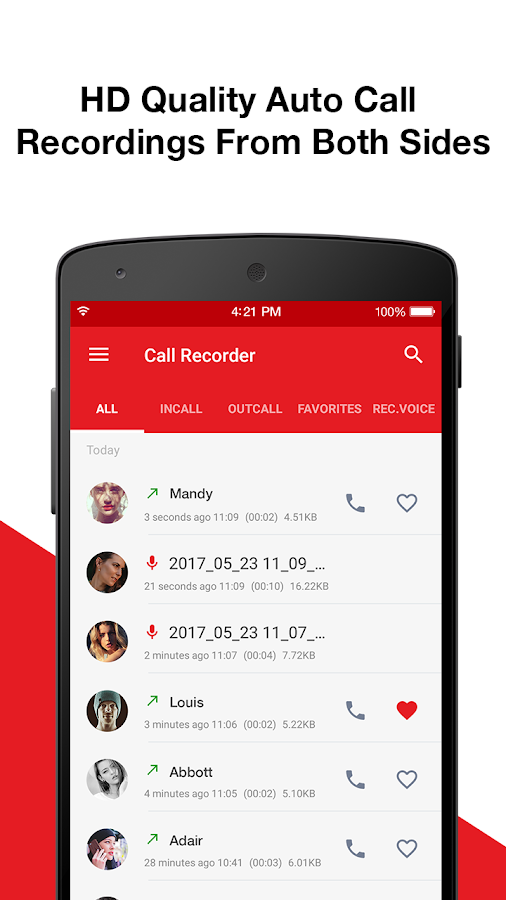 Automatic Call Recorder & Voice Recorder- screenshot