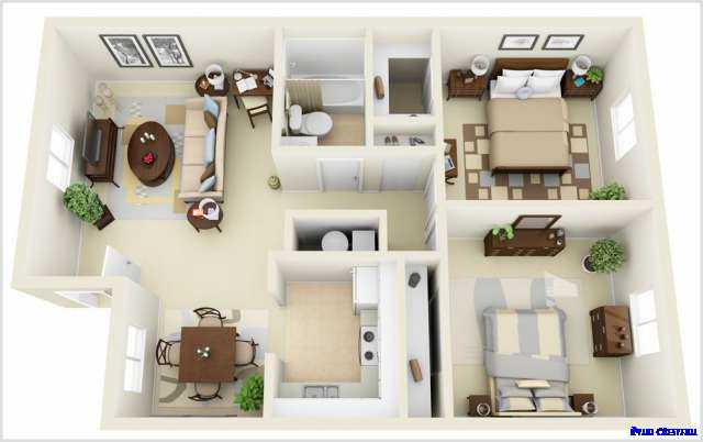 3 dimensional house plans