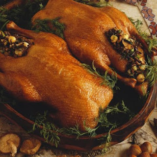 Golden Game Birds with Stuffing
