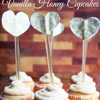 Vanilla Honey Cupcakes, Refined Sugar Free.