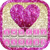 Glitter Heart Keyboard Theme