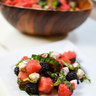 Blackberry and Watermelon Caprese.